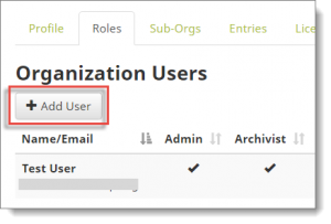 Org Admin - Add User from Roles